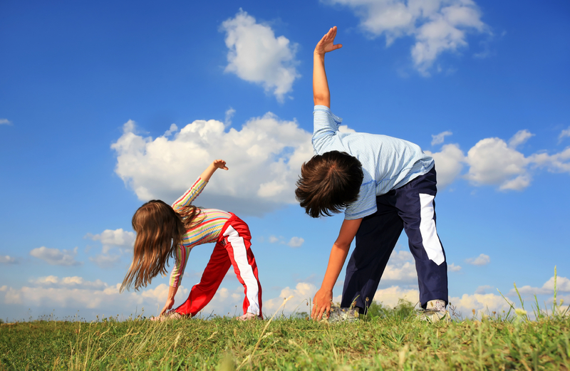 Kids exercising to treat their ADHD.